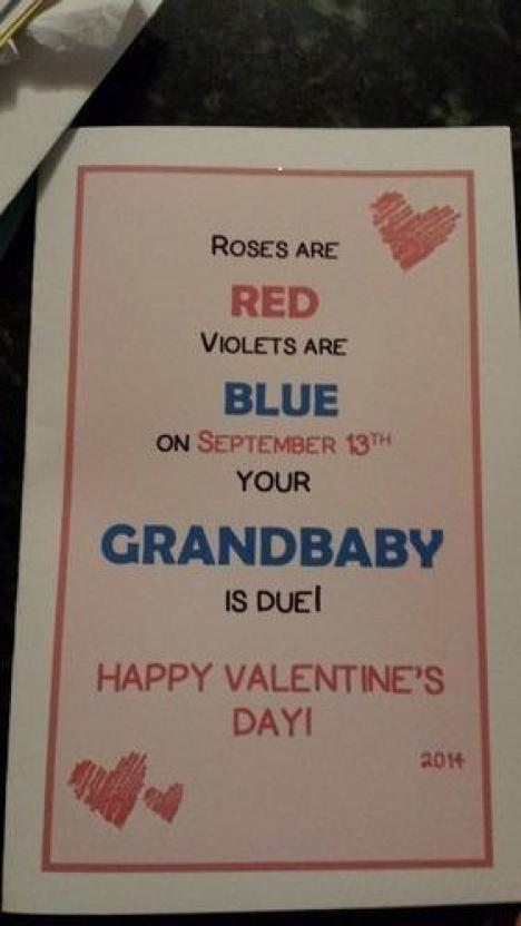 Valentines Pregnancy Announcements BabyGaga – Valentine Birth Announcement